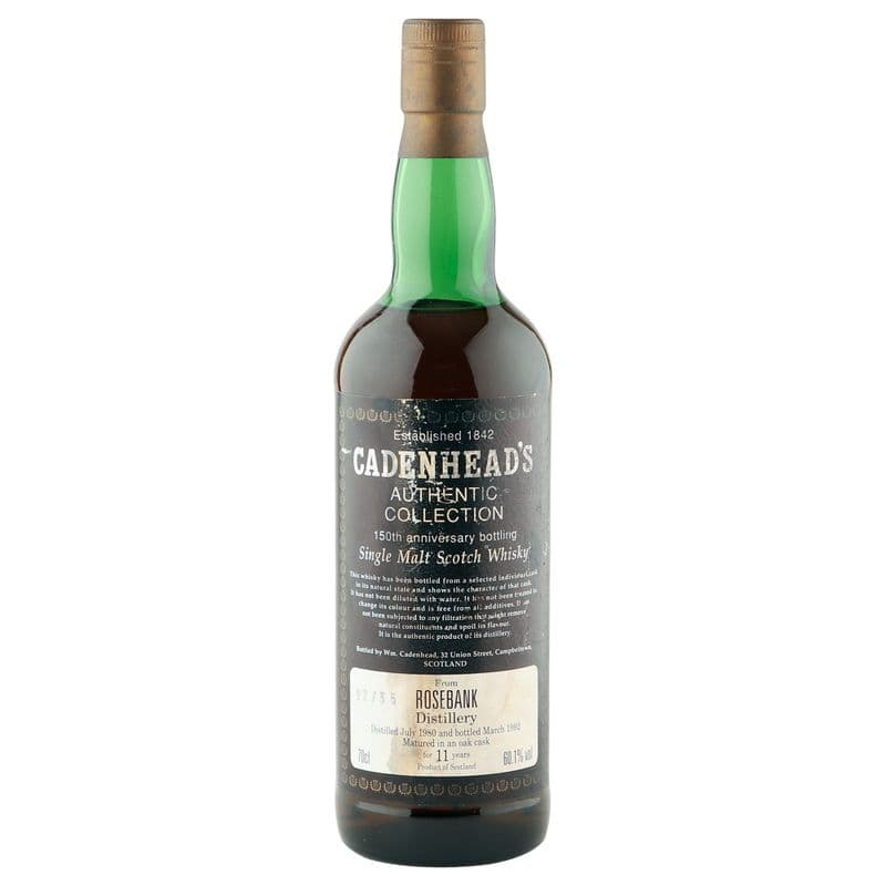 Rosebank 1980 11 Year Old, Cadenhead's 150th Anniversary 1992
