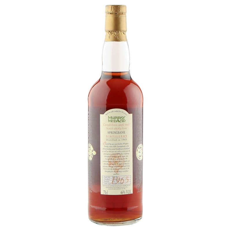 Springbank 1965 34 Year Old, Murray McDavid 1999 Bottling - Cask #580