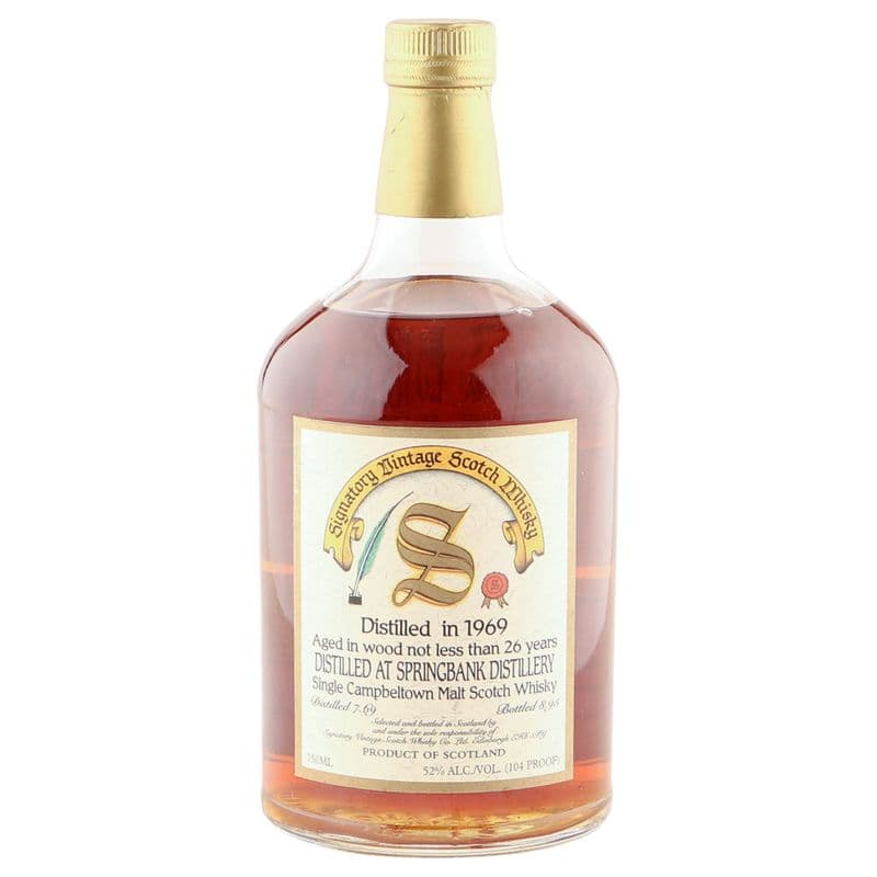 Springbank 1969 26 Year Old, Signatory Vintage 1995 US Import
