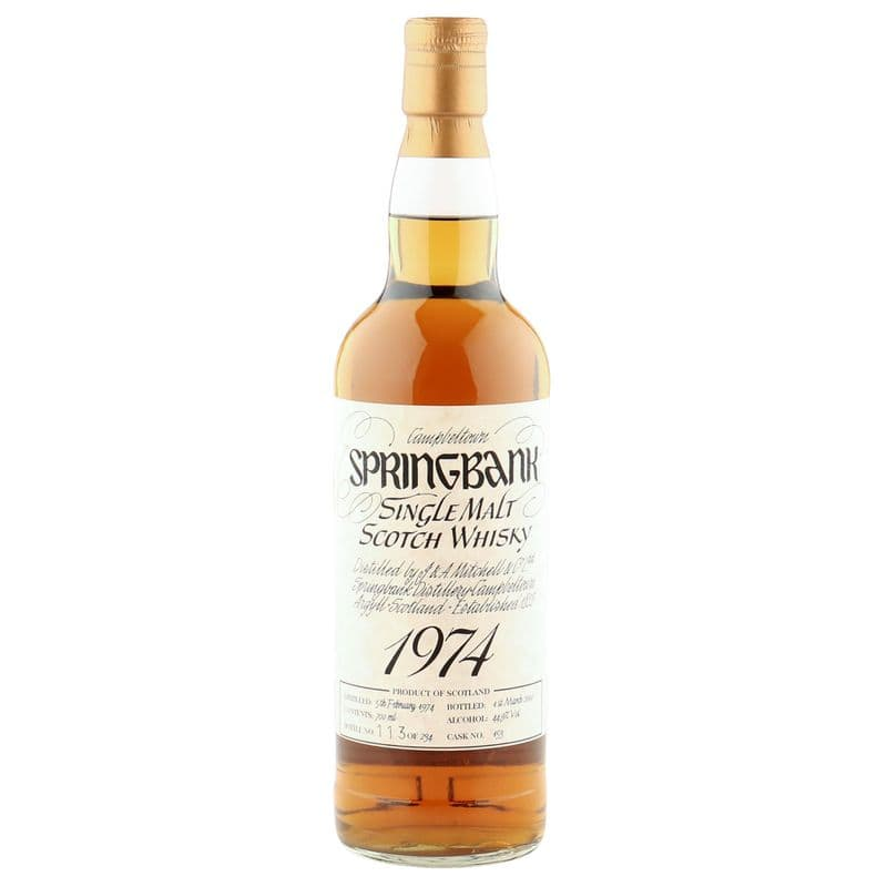 Springbank 1974 26 Year Old, Single Cask 2000 Bottling - Cask #153