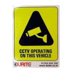 Durite CCTV Operating on this Vehicle - Internal, Small- Pk5