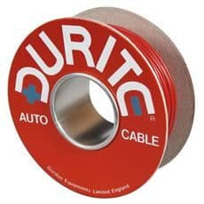 Durite Cable Single Thin Wall 28/0.30mm White/Red PVC 100M