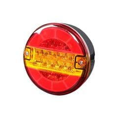 Durite Stop/Tail/DI 140mm Round LED Lamp 12/24 volt Bx1
