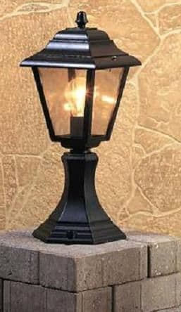 4 Panel Pedestal Lantern - Firstlight Lighting