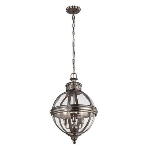 Adams Small Nickel Interior Lantern - Feiss Lighting