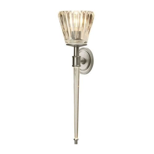 Agatha Nickel Bathroom Wall Light - Elstead Lighting