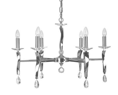 Aire Chrome 6 Light Chandelier - Oaks Lighting