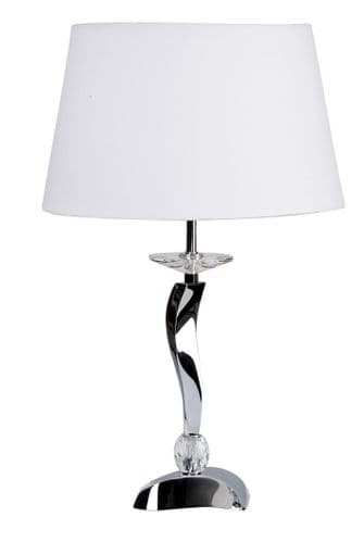 Aire Chrome Table Lamp - Oaks Lighting