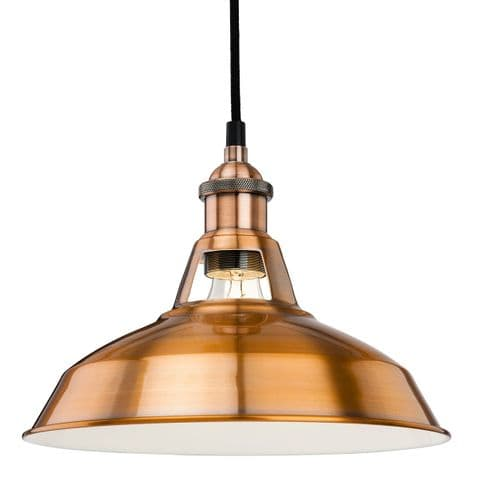 Albany Brushed Copper Single Light Pendant - Firstlight Lighting