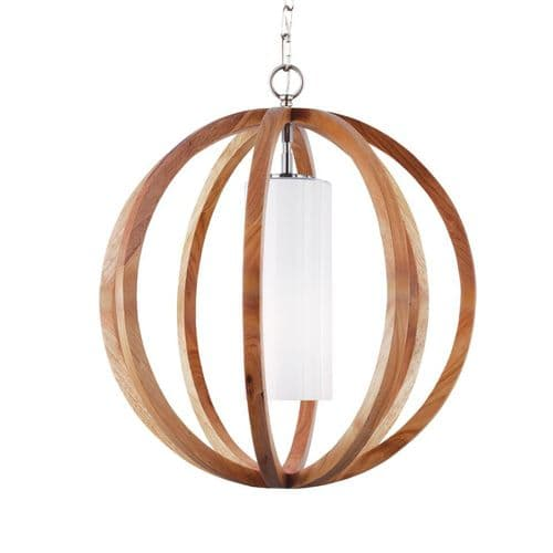 Allier Small Light Wood Ceiling Light Pendant - Feiss Lighting