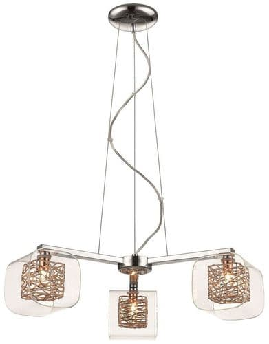 Anne Copper 3 Light Ceiling Light Pendant - Luxury Lighting