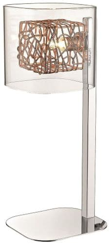 Anne Copper Table Lamp - Luxury Lighting