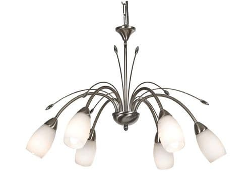 Antwerp 6 Light Ceiling Light Antique Chrome - Oaks Lighting