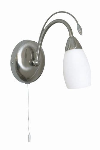 Antwerp Switched Single Wall Light Antique Chrome - Oaks Lighting