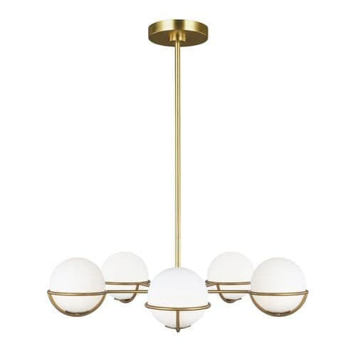 Apollo Brass Chandelier - Feiss Lighting