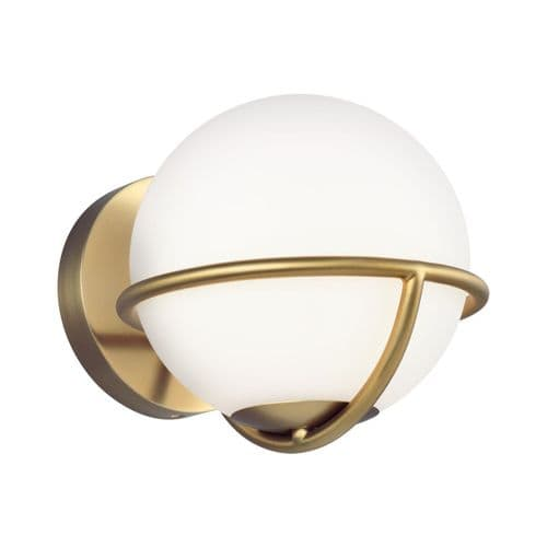 Apollo Brass Wall Light - Feiss Lighting