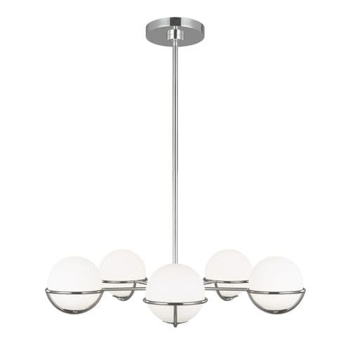 Apollo Nickel Chandelier - Feiss Lighting