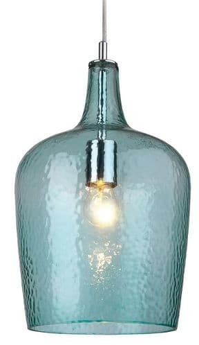 Aqua Glass Single Light Pendant - Firstlight Lighting