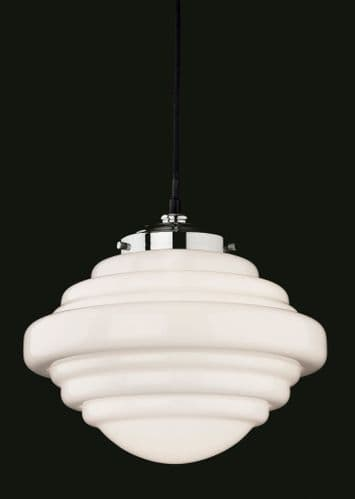 Art Deco 4948 Single Light Pendant - Firstlight Lighting