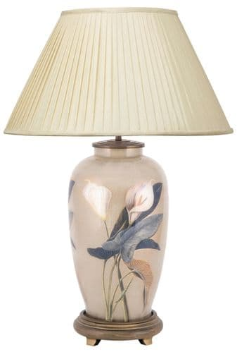 Arum Lily Tall Urn Table Lamp with Shade - Jenny Worrall