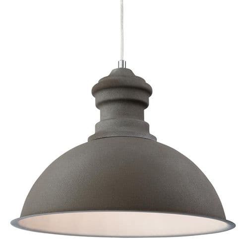 Aztec Concrete Single Light Pendant - Firstlight Lighting
