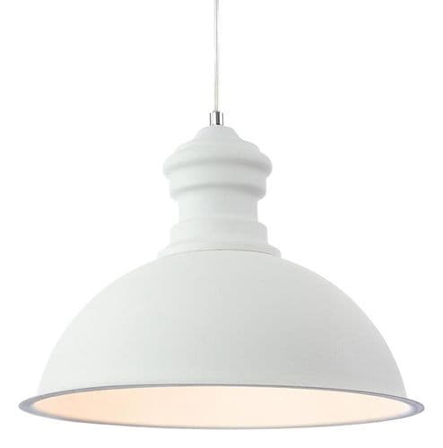 Aztec White Single Light Pendant - Firstlight Lighting