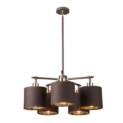 Balance Brown 5 Light Ceiling Light - Elstead Lighting