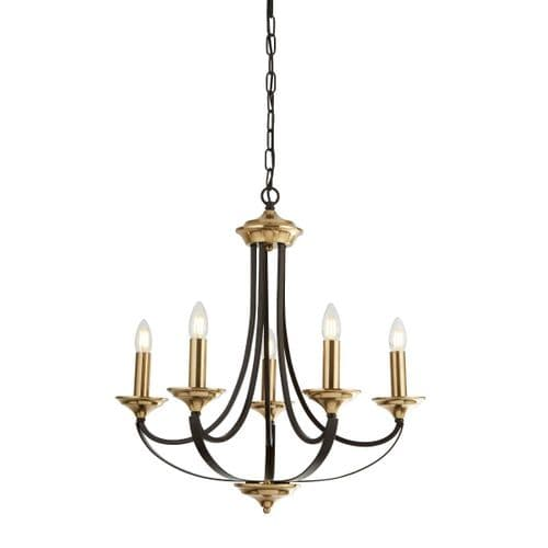 Belfry 5 Light Chandelier - Searchlight Lighting