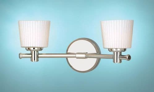 Binstead Double Bathroom Wall Light - Elstead Lighting - SALE - Was £97.50