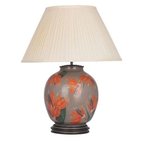 Bird of Paradise Large Round Table Lamp with Shade - Jenny Worrall