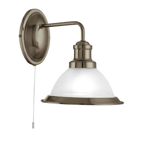 Bistro Antique Brass Switched Wall Light - Searchlight Lighting