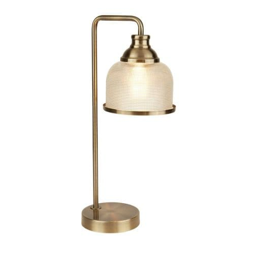 Bistro II Antique Brass Table Lamp - Searchlight Lighting
