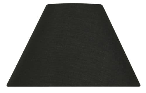 "Black 16"" Cotton Coolie Lamp Shade - Oaks Lighting"