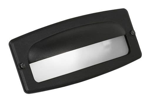 Black Half Cover Brick Light - Oaks Lighting