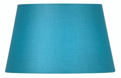"Blue 14"" Cotton Drum Lamp Shade - Oaks Lighting"