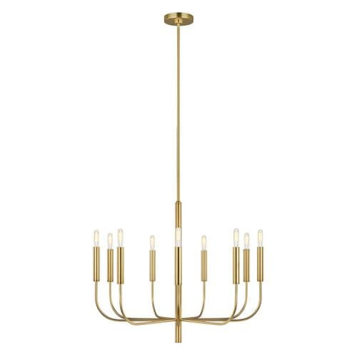 Brianna Brass Chandelier - Feiss Lighting