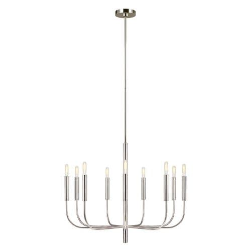 Brianna Nickel Chandelier - Feiss Lighting