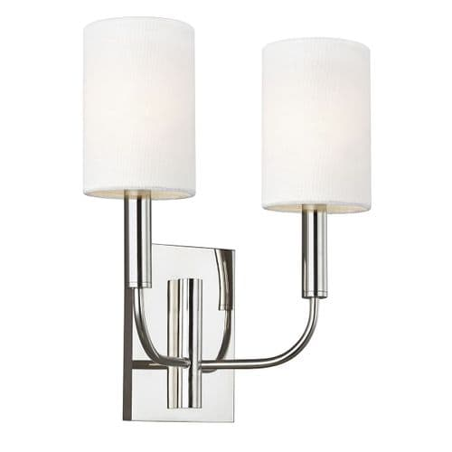 Brianna Nickel Double Wall Light - Feiss Lighting