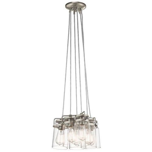 Brinley Nickel 6 Light Ceiling Pendant - Kichler Lighting