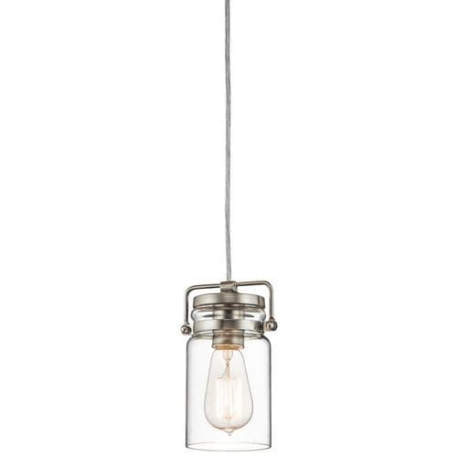 Brinley Nickel Single Light Pendant - Kichler Lighting