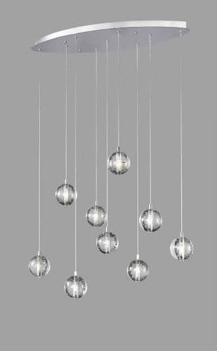 Bubbles 9 Light Linear Ceiling Light Pendant - Avivo Lighting
