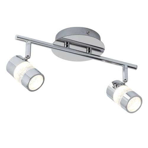 Bubbles Twin Spot LED Bathroom Ceiling Light - Searchlight Lighting