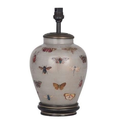 Bugs and Butterflies Small Urn Table Lamp - Jenny Worrall