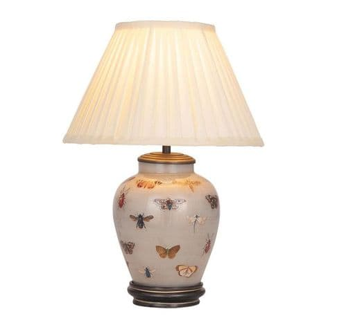 Bugs and Butterflies Small Urn Table Lamp with Shade - Jenny Worrall