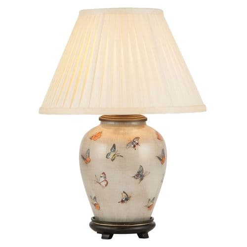 Butterflies Small Urn Table Lamp with Shade - Jenny Worrall