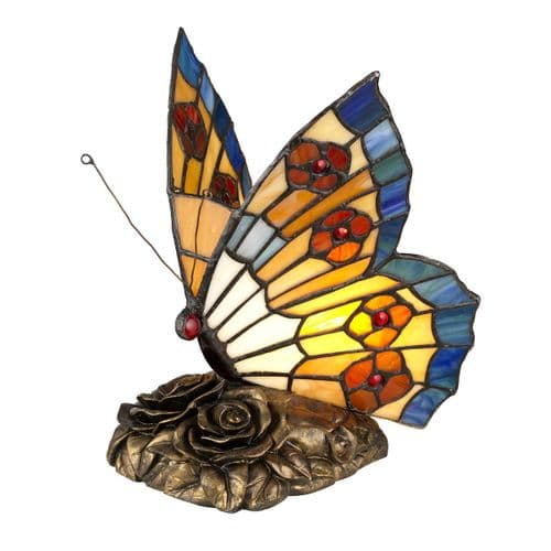 Butterfly Tiffany Table Lamp - Quoizel Lighting.