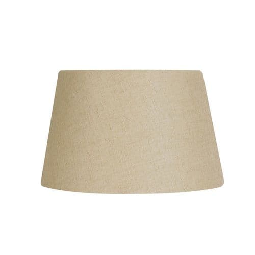 "Buttermilk 14"" Linen Drum Lamp Shade - Oaks Lighting"