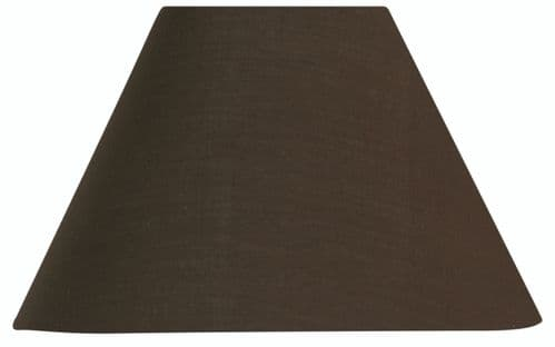 "Chocolate 14"" Cotton Coolie Lamp Shade - Oaks Lighting"