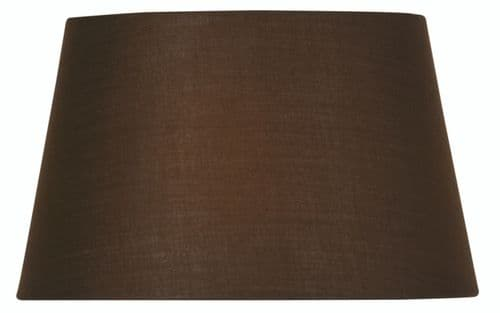 "Chocolate 14"" Cotton Drum Lamp Shade - Oaks Lighting"