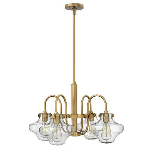 Congress Caramel 4 Light Ceiling Pendant with Bulbous Glass - Hinkley Lighting